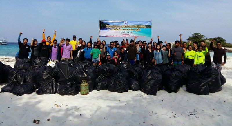 Phuket beach, ocean cleanup sees 1.2 tons of rubbish removed Koh Raha Noi | Samui Times