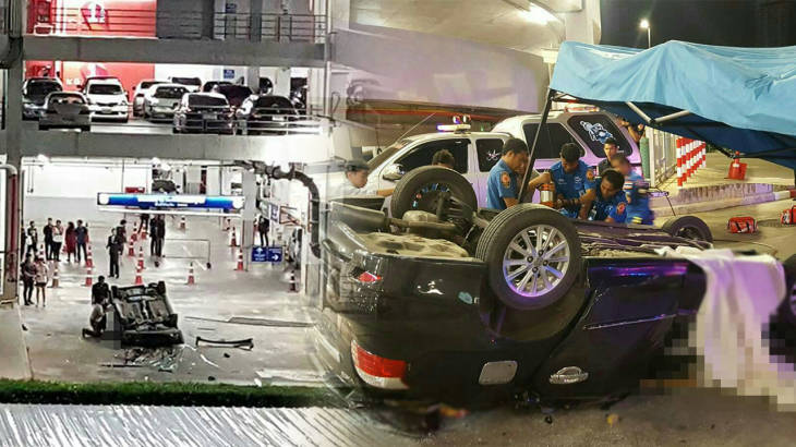 Two women killed instantly as car plunges from third floor of Hat Yai department store car park | Samui Times