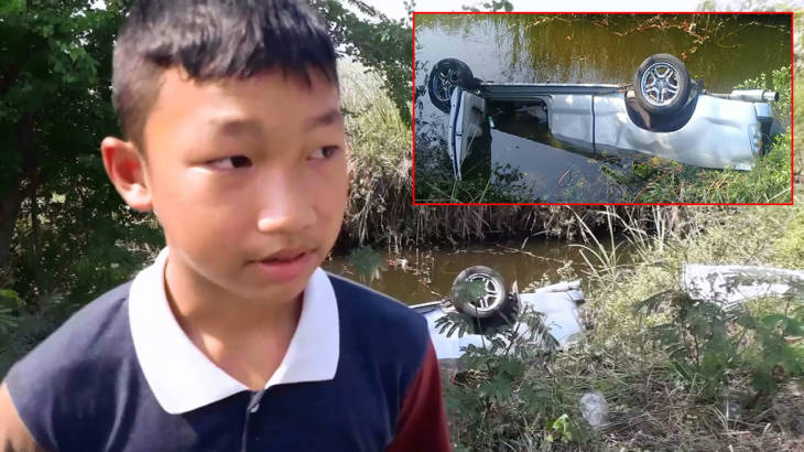 Boy hero, 14, jumps in khlong to save driver – but he's too late | Samui Times