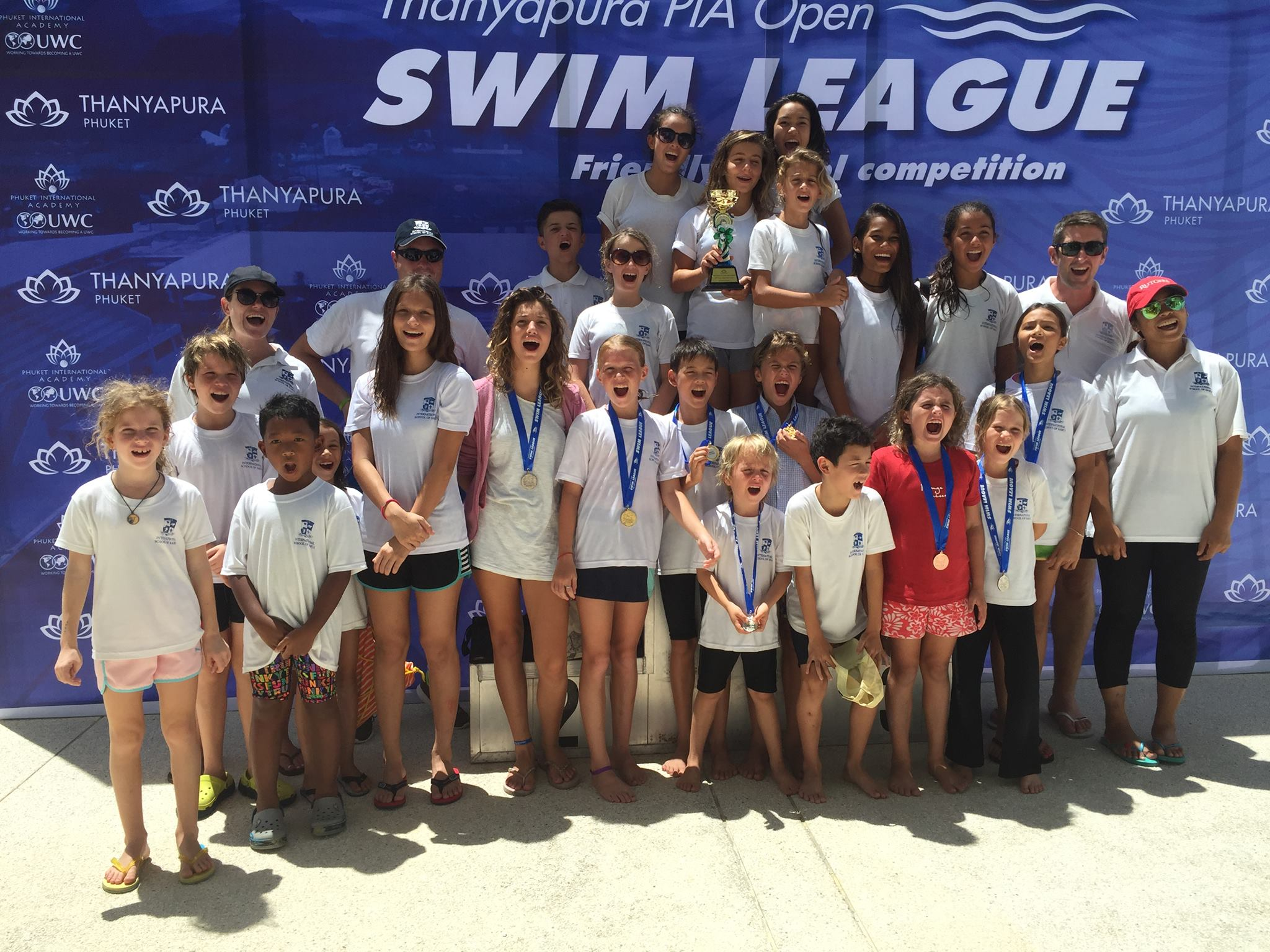 Samui Sharks Swim Team Sweeps to 1st Place | Samui Times