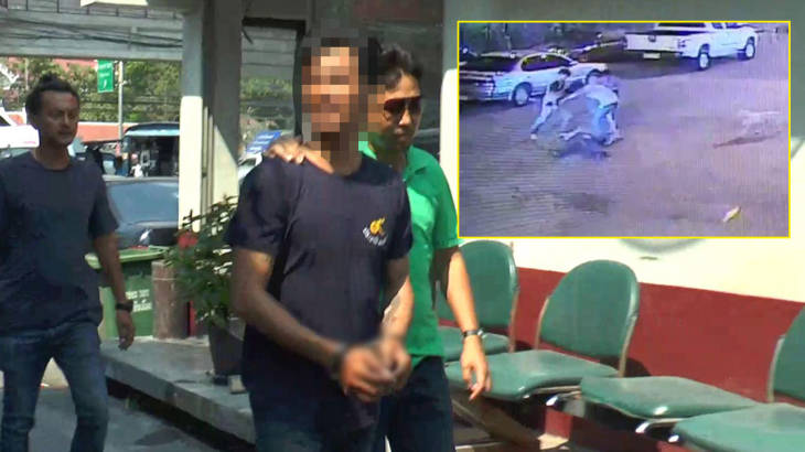 Thug in security guard attack goes to police – says sorry for going over the top | Samui Times