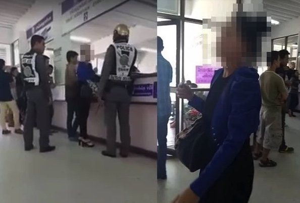Screaming Thai woman has a bad hair day in argument over driving test regulations | Samui Times
