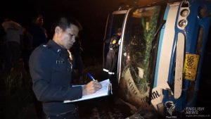 Bus crash in Trat leaves 3 dead, 20 injured | News by Samui Times