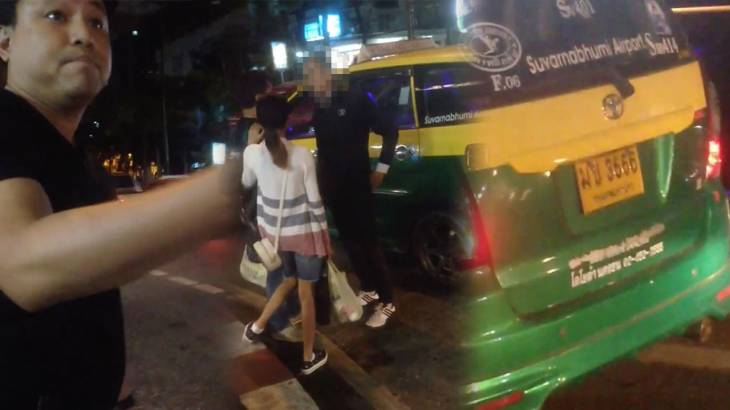 """Famous Thai TV executive """"threatened with a gun"""" after taxi refuses to stop 