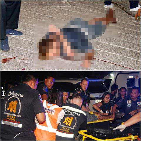 """Foreigner stabs Thai woman with """"luuk chin"""" stick then jumps to his death in Hua Hin 