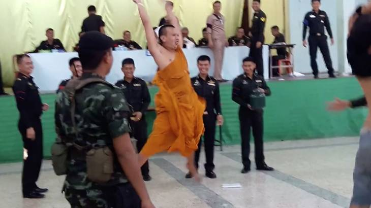 Monk goes bonkers as he avoids the draft!   Samui Times