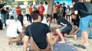 CCTV caught the moment two Thai tourists on phones were struck by lightning on Cha-Am beach   News by Samui Times
