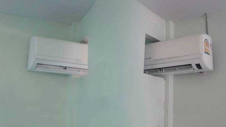 Two bedrooms one air con – pictures go viral on social media | Samui Times