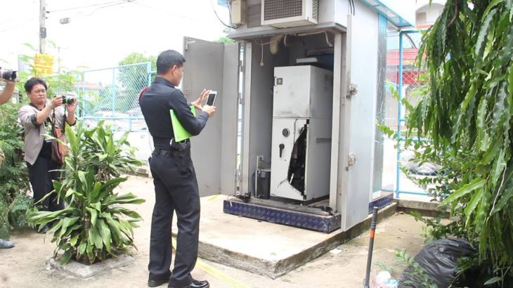Thieves cut open Udon ATM and make off with at least 2 million baht. | Samui Times