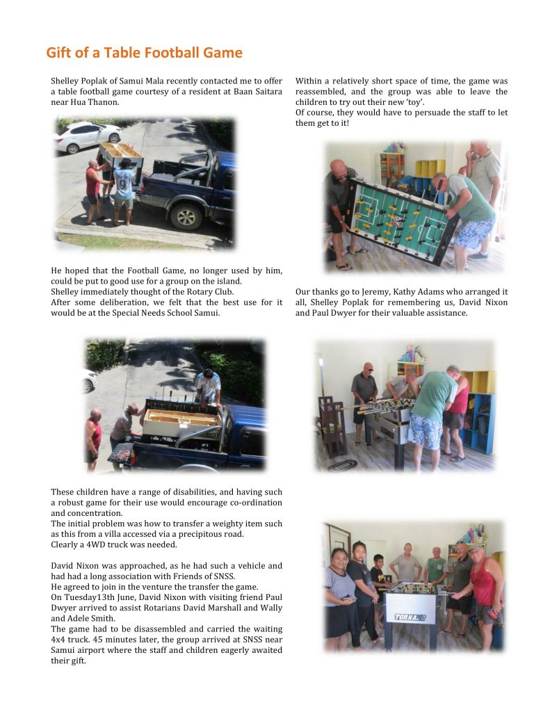 Rotary News Letter June 2017 | News by Samui Times