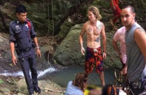 American tourist who died at remote waterfall