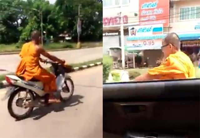 Only in Thailand? High speed chase as cops fail to catch fleeing monk on a motorcycle! | Samui Times