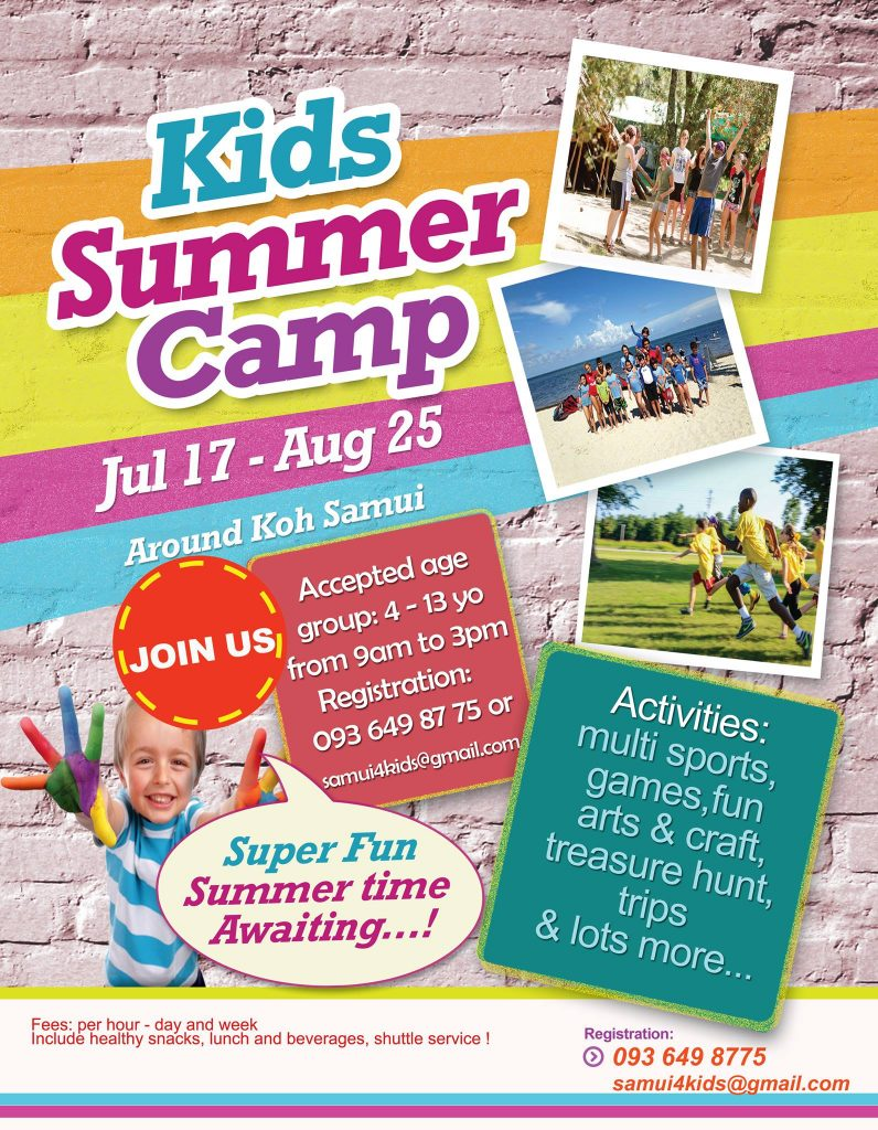 Healthy Summer Camp for Kids on Samui | News by Samui Times