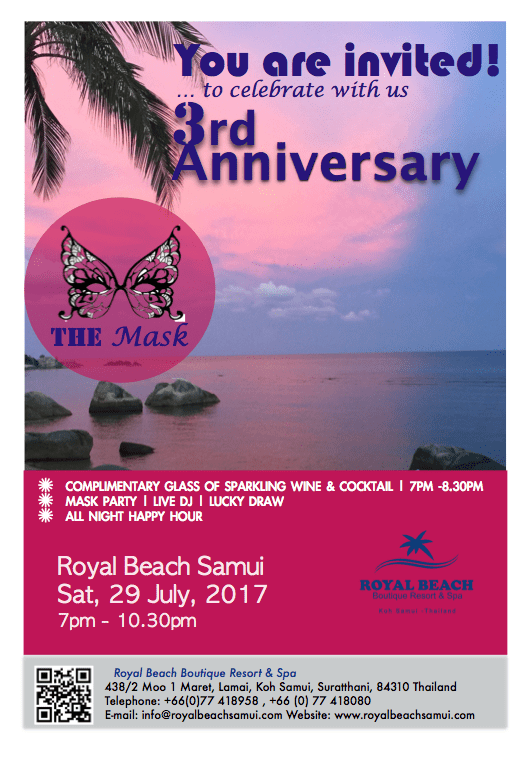 3rd Anniversary Party of Royal Beach Samui | Samui Times