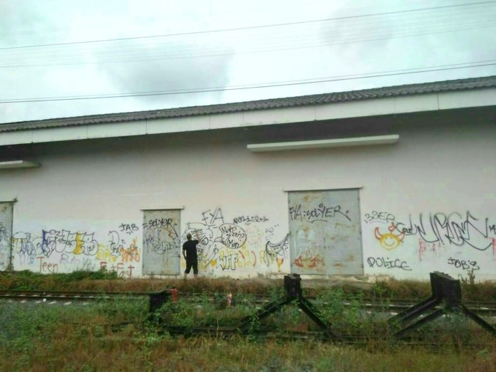 Briton Arrested For Spray Painting Chiang Mai Railway Station | Samui Times