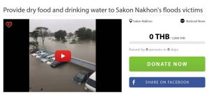 Official fundraiser launched to help flood victims of Sakon Nakhon | News by Samui Times