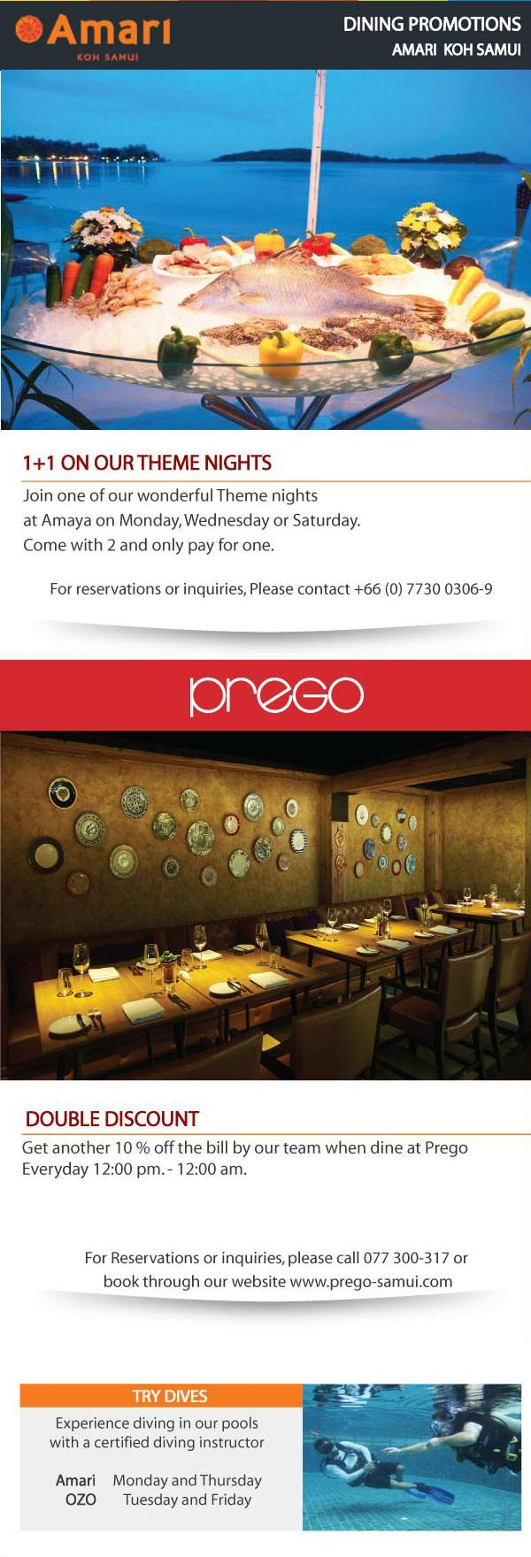 Dining Card Newsletter of July | Samui Times