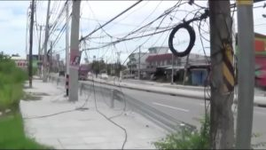 Chonburi residents call in the media to get action from a particularly nasty stretch of hanging wires | News by Samui Times