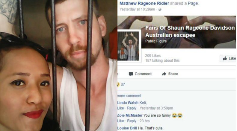 Bali prison escapee Shaun Davidson asks people to share new Facebook fan page | Samui Times