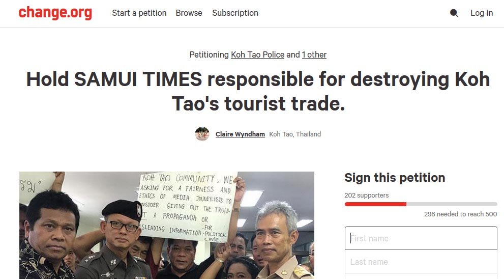 Koh Tao residents alarming reactions to reports on tourist deaths | Samui Times
