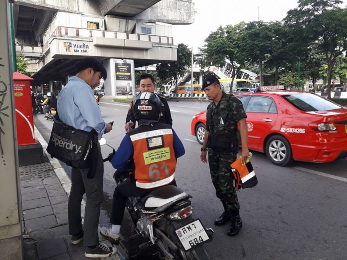 Dozens Of Illegal Motorbike Riders Arrested At BTS Mo Chit | Samui Times