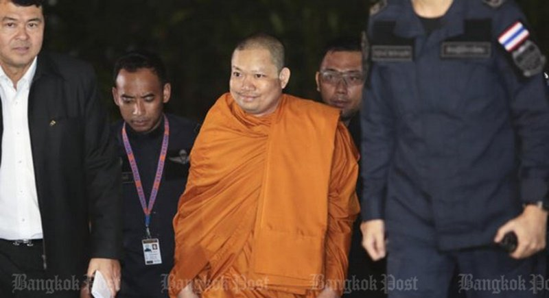 Jet-setting monk back in Bangkok to face charges | Samui Times