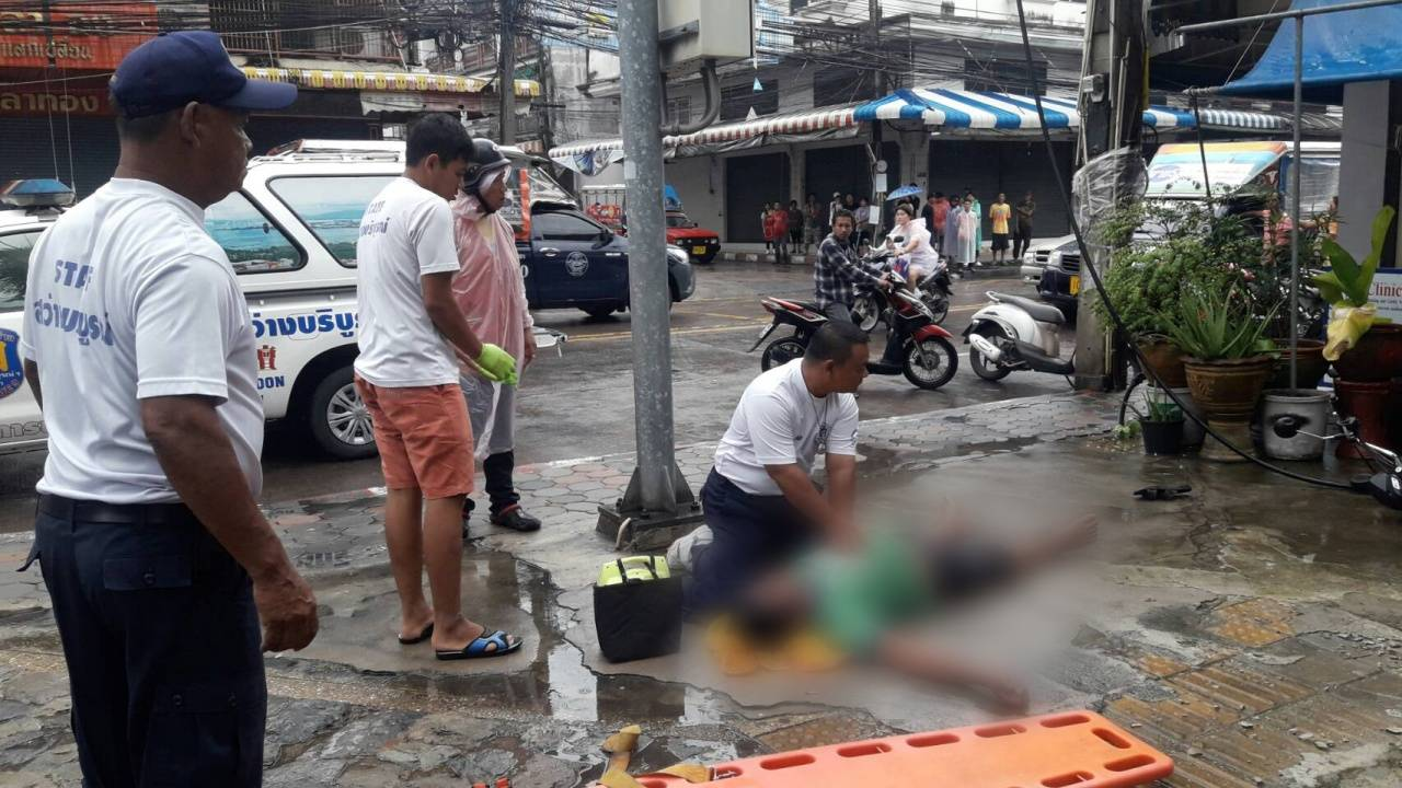 Pattaya's shame! Man electrocuted in the street right outside district chief's house | Samui Times