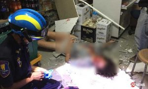 Panic as foreign woman drops into Pattaya convenience store - through the roof | News by Samui Times