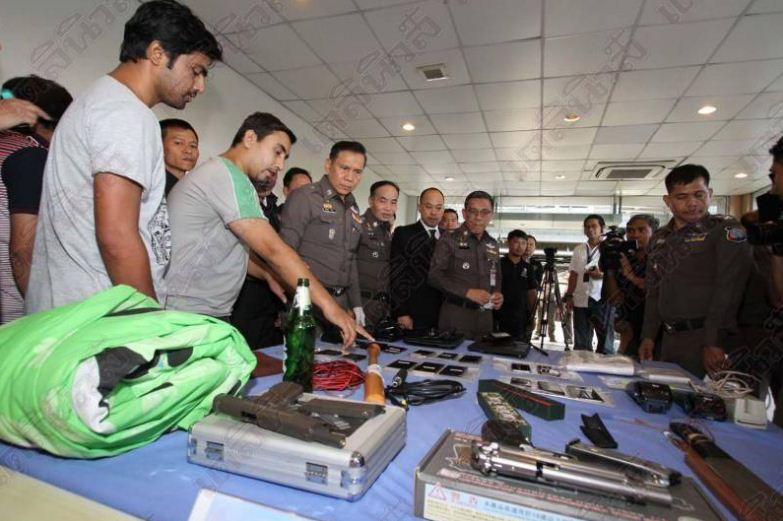 Indian kidnappers and extortionists arrested and taken to Suvarnabhumi airport scene of crime | Samui Times