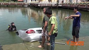 A retired teacher found dead in a car in a temple's pond   News by Samui Times