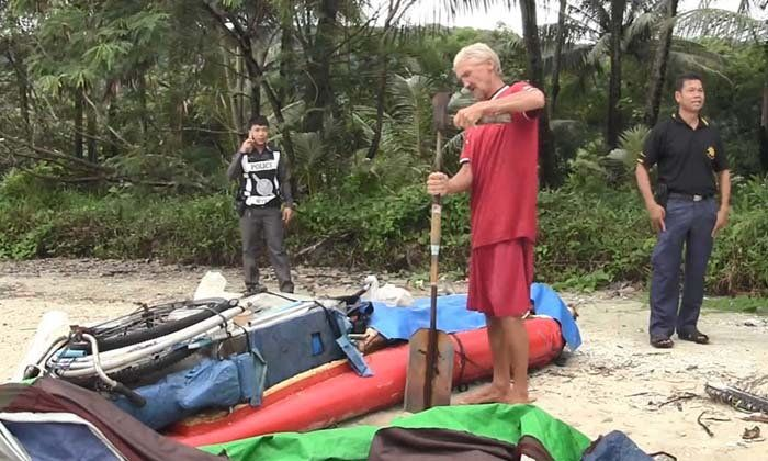 """Russian with axe and no friends found floating off Trat just """"wanted to get back to Pattaya"""" 