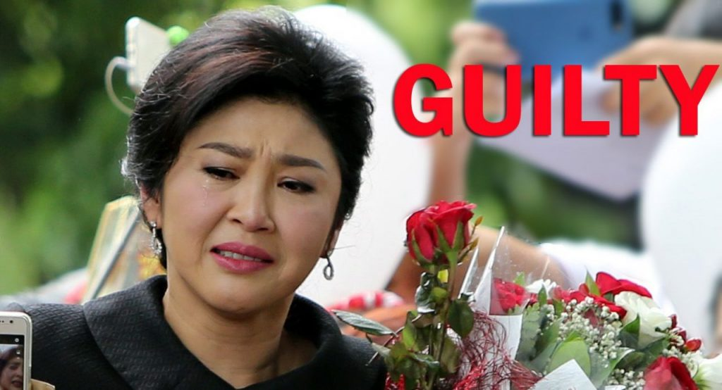 Yingluck sentenced to five years in jail | News by Samui Times