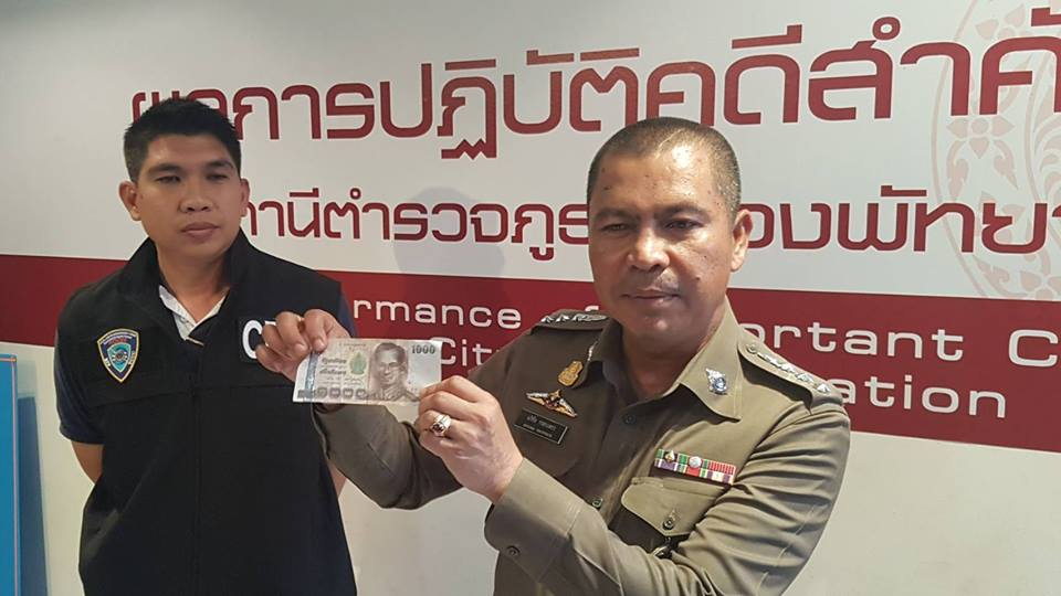 Fake 1000 baht notes: Pattaya police arrest three eastern Europeans | Samui Times