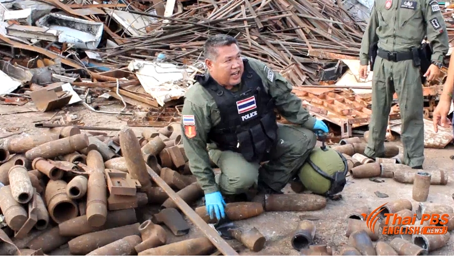 A worker was injured by a bomb explosion at an iron scrap factory   Samui Times
