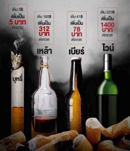 It's a wait and see game - smokers and drinkers will discover tax fate on Saturday | News by Samui Times
