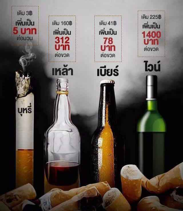 It's a wait and see game – smokers and drinkers will discover tax fate on Saturday | Samui Times