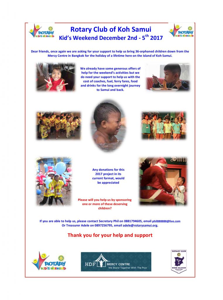 Rotary October 2017 Newsletter | News by Samui Times