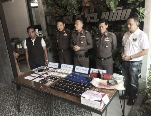 Phuket police arrest two men with drugs, gun and ammunition | Samui Times