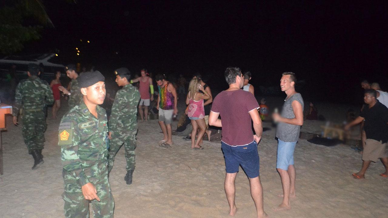 Soldiers raid unofficial Full Moon Party on Koh Phangan | Samui Times