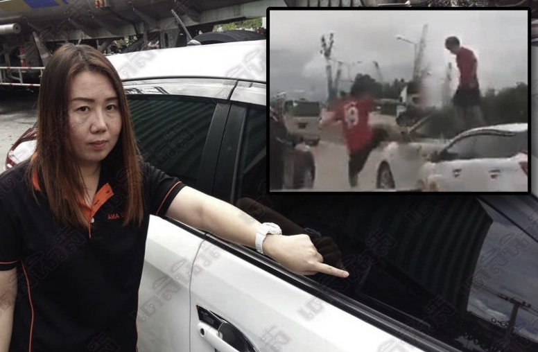 Thai man kicks Toyota Yaris and jumps on the roof – because driver honked her horn | Samui Times