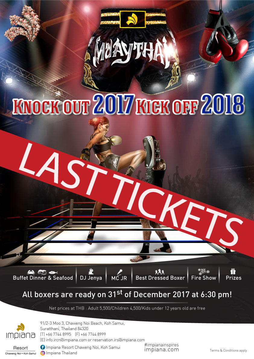 Impiana Resort Chaweng Noi, Koh Samui is proud to present New Year Eve Party 2017 | Samui Times