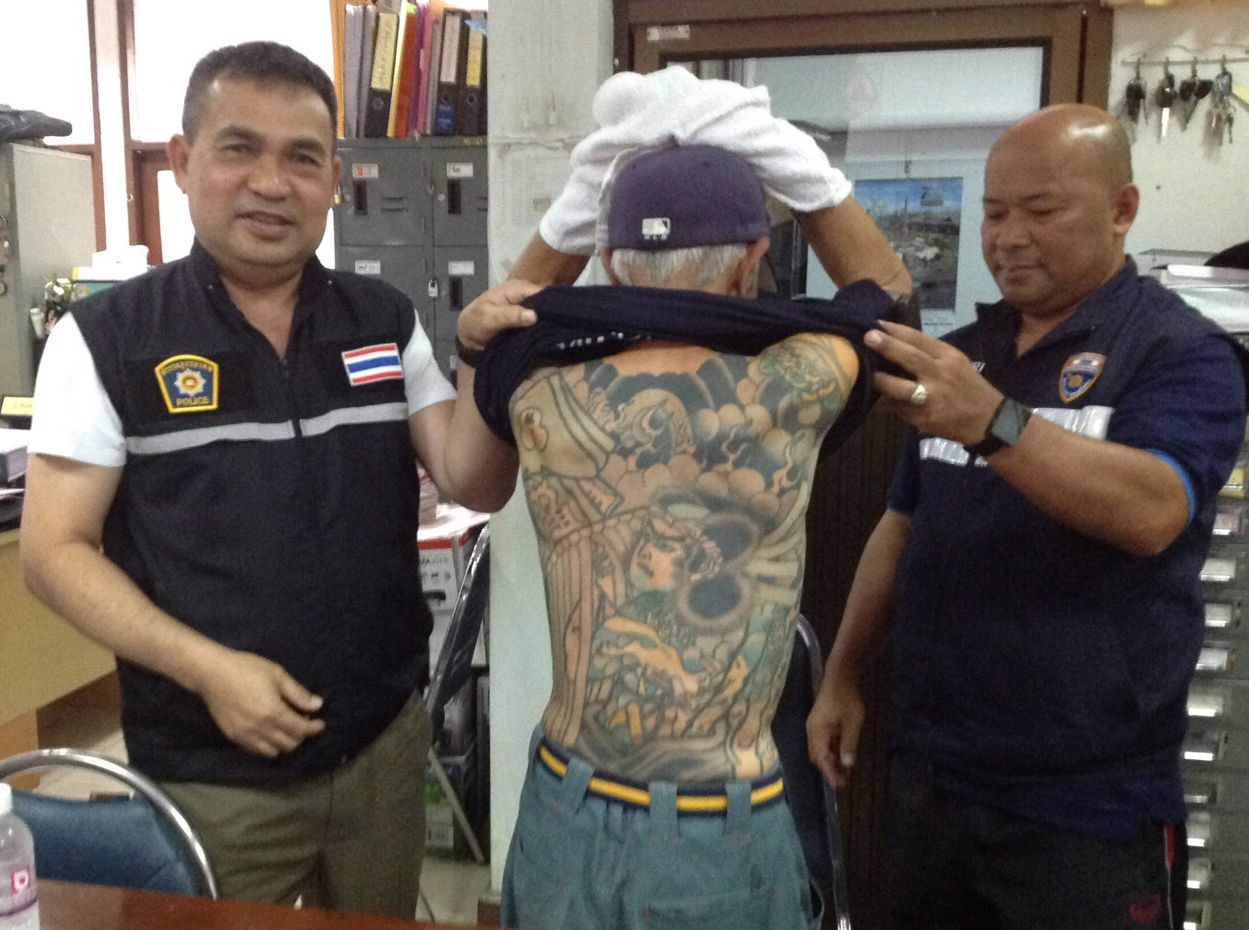 Ex-Yakuza crime boss hiding in Thailand fingered after tattoo photos appear on Facebook | Samui Times