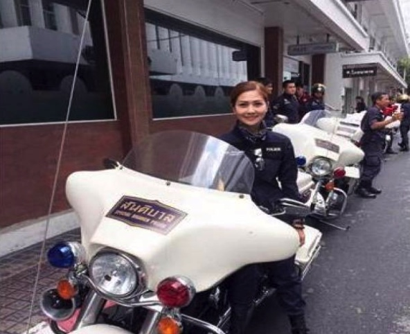 Well known female police motorcycle outrider in hospital after collision in Chumphon   Samui Times
