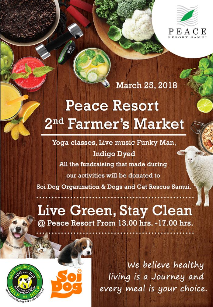 Peace Resort 2nd Farmers Market | Samui Times