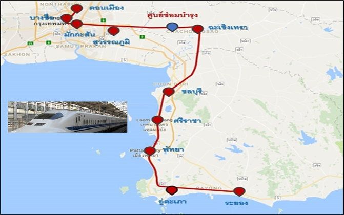 High speed rail: Pattaya to Bangkok in well under an hour – around 300 baht! | Samui Times