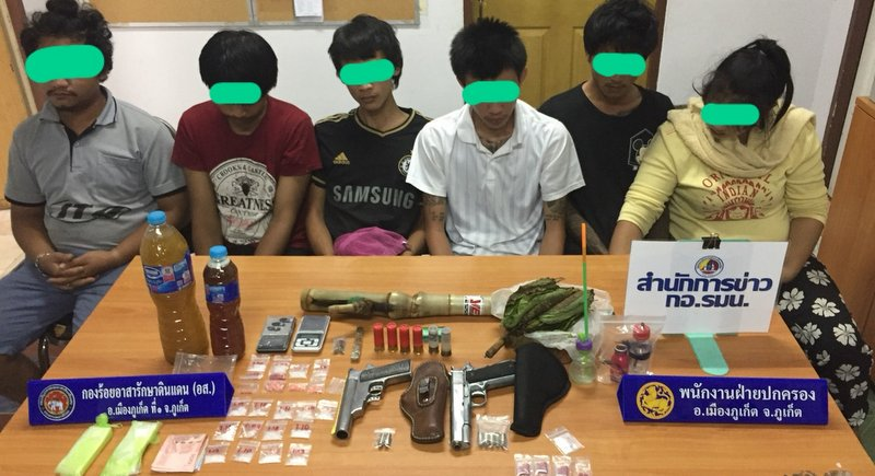 Six arrested in Phuket drugs, illegal firearms bust | Samui Times