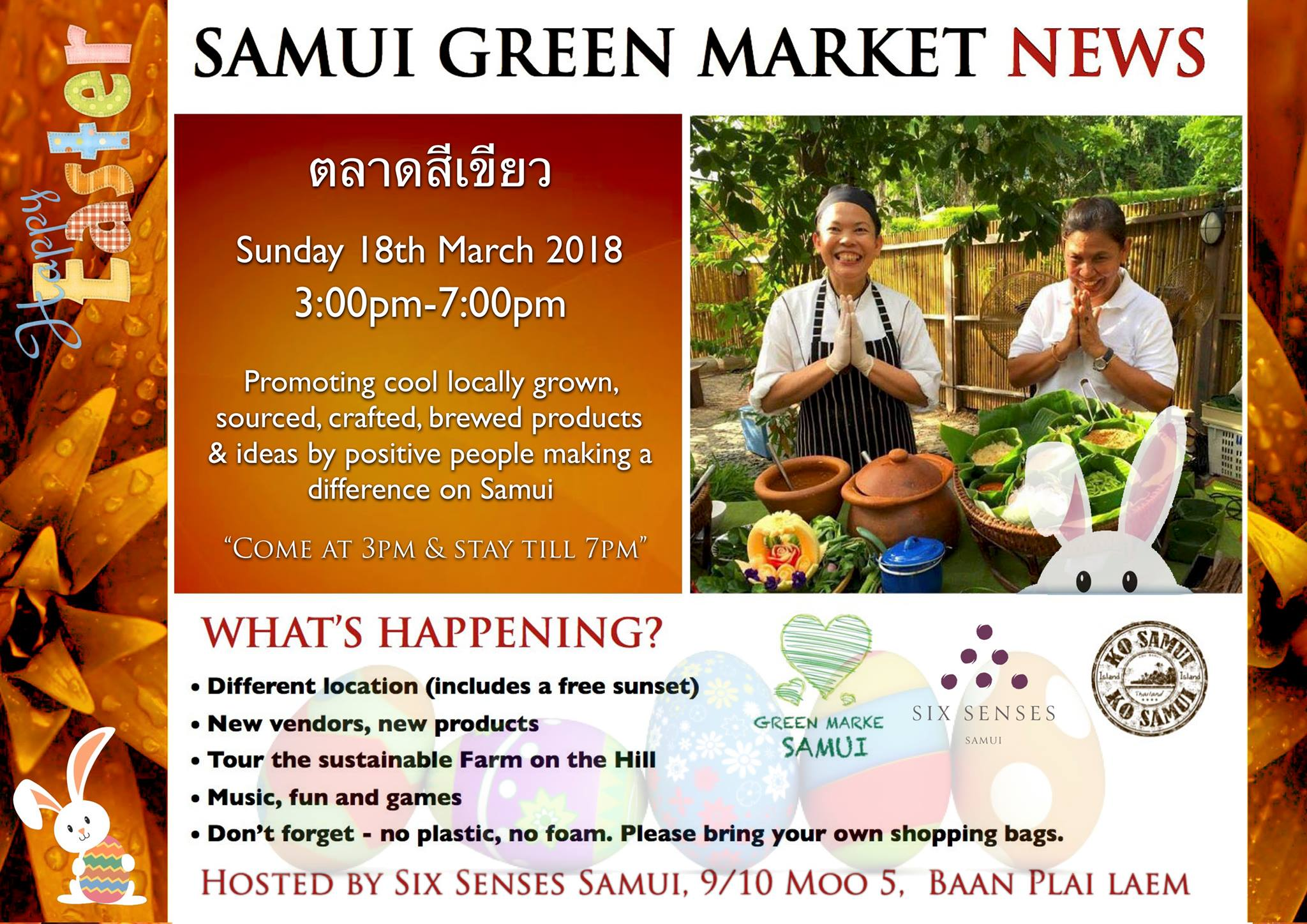 'Eggtravaganza' Samui Green Market – Sunday 18th March | Samui Times