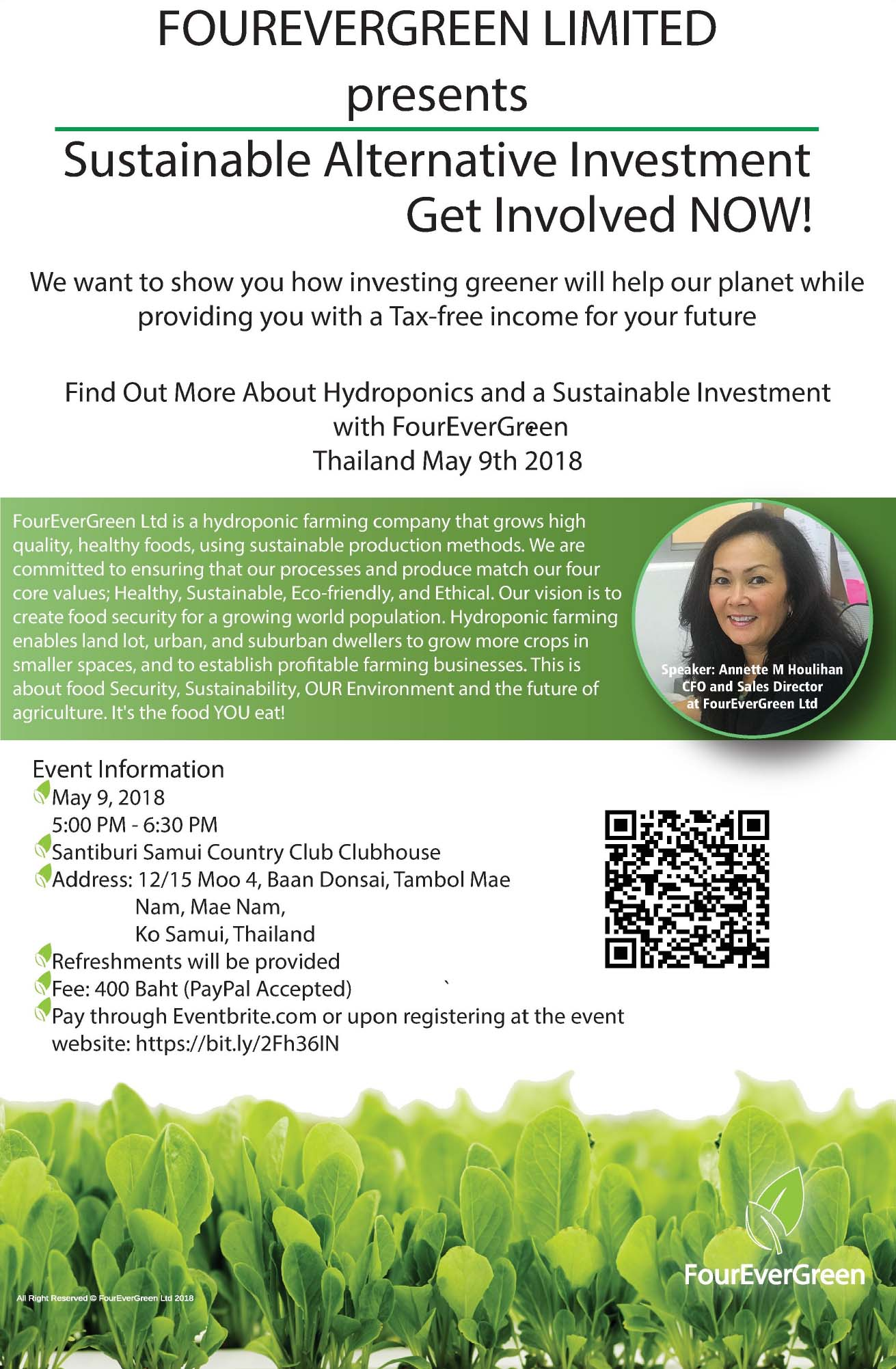 FOUREVERGREEN LIMITED  presents – Sustainable Alternative Investment Get Involved NOW! | Samui Times