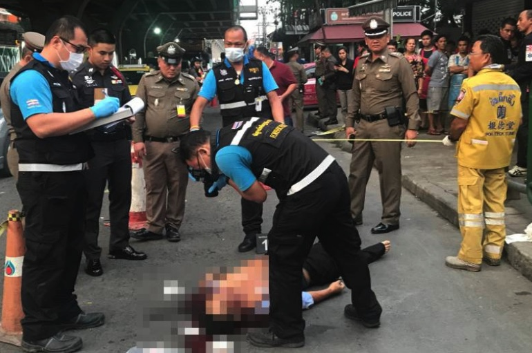 Hunt on after taxi driver stabbed to death outside northern Bangkok market | Samui Times
