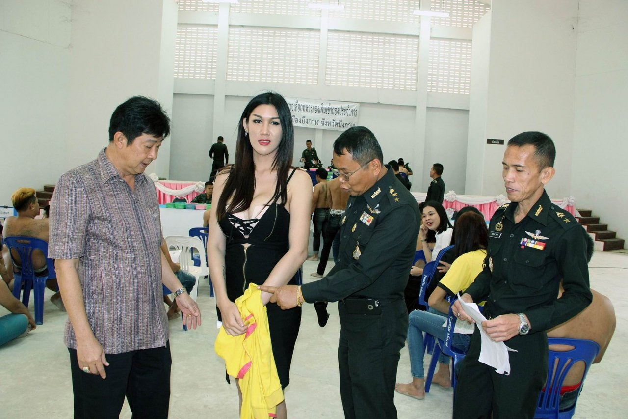 Ladyboys turn up for conscription call | Samui Times